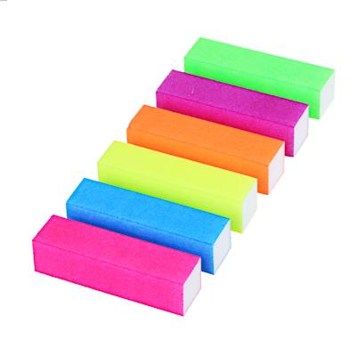 305-236 Бафик-мини для полировки ногтей 4-хсторонний, 9х2х2,5см, ЭВА, 6 цветов, B204
