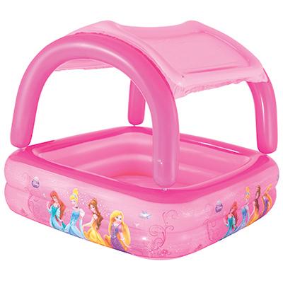 107-151 BESTWAY Бассейн надувной с тентом от солнца 147х147х122см, 265л, Disney Princess, арт.91057