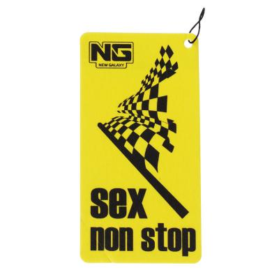"""794-317 Ароматизатор в машину бумажный, аромат ваниль,  """"Danger/Sex non stop"""""""
