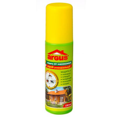 961-001 ARGUS Лосьон-спрей универсальный от комаров, клещей, мошек, москитов, мокрецов, слепней 150мл, ГМ-13