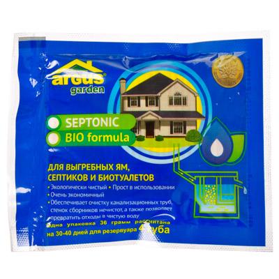 989-001 ARGUS GARDEN Средство для выгребных ям, септиков, туалетов и БИО туалетов 2 пакета 36 грамм, АР-41