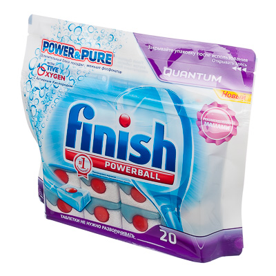 993-003 Средство для мытья посуды в посудом.машинах Финиш All in One, 20 табл