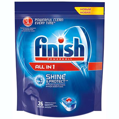 993-004 Набор средств для мытья посуды в посудом.машинах Финиш All in One + 1 в подарок x 26 таб арт.3024777