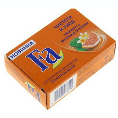 952-020 Мыло твердое Fа Чистота и Уход Грейпфрут &Молочные протеины к/у 90г