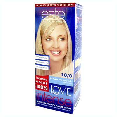 972-014 Краска для волос Estel LOVE Intense 10/0 Платиновый блондин к/у 100 мл