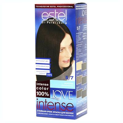972-017 Краска для волос Estel LOVE Intense 5/7 Шоколад к/у 100 мл