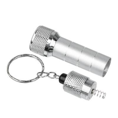 198-070 ЧИНГИСХАН Фонарик-брелок 5 LED, 3хLR44, алюминий, 6,7х1,2 см