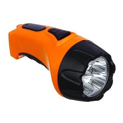 198-074 ЧИНГИСХАН Фонарь аккумуляторный 4 ярк. LED, вилка 220В, пластик, 13x5,3 см