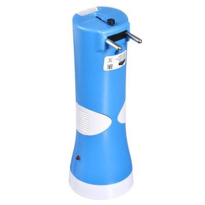 198-080 ЧИНГИСХАН Фонарь аккумуляторный 1х0,5 Вт + 8 мини COB LED, вилка 220В, пластик, 14,9x5,4см