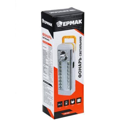 198-083 ЧИНГИСХАН Фонарь-светильник (16+12) + 0,5 Вт LED, 4xAA / шнур 220В, пластик, 20,5x7 см