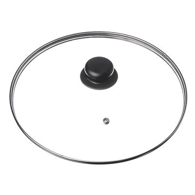 848-046 Крышка для сковороды стеклянная с ручкой,металлический ободок, 16 см
