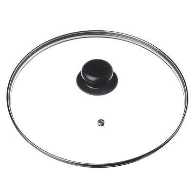 848-047 Крышка для сковороды стеклянная с ручкой,металлический ободок, 18 см