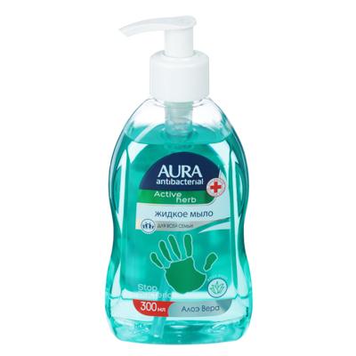 952-041 Мыло жидкое AURA с антибактериальным эффектом,300мл,алоэ вера,ромашка,арт.34416