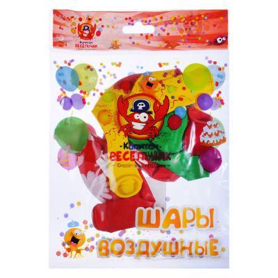 """518-022 Шары воздушные, 5шт, 12"""", 5 цветов, """"Большие ромашки"""""""