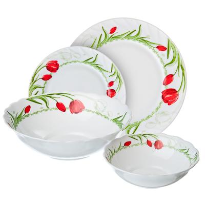 818-779 VETTA Дафна Набор столовой посуды 19 пр., опаловое стекло, W-19B6