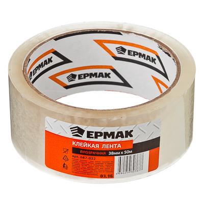 687-022 ЕРМАК Клейкая лента прозрачная 35мм x 50м