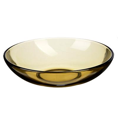 """877-491 Тарелка глубокая d.19 см, дымчатое стекло, """"Базилико"""""""