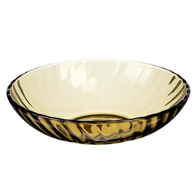 """877-507 Тарелка стеклянная глубокая d. 19 см, """"элика"""""""