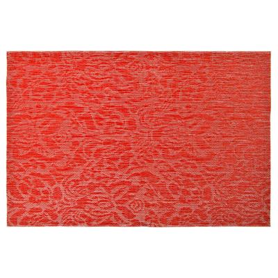 """890-288 Салфетка сервировочная ПВХ, 30x45см, """"Узор"""", красный"""