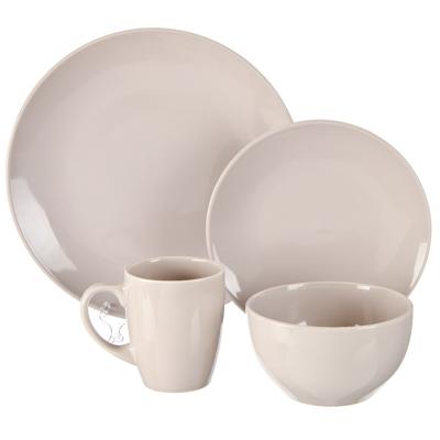 824-628 FARFALLE Акварель Набор столовой посуды 16 пр., керамика, серый, дизайн GC