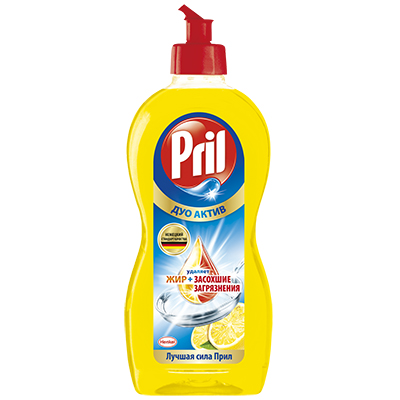 992-010 Средство для мытья посуды Прил Дуо Актив Лимон п/б 450мл, 2126622