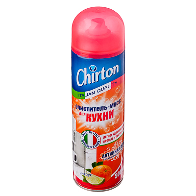 994-003 Очиститель-мусс для кухни ЧИРТОН Цитрус 500мл