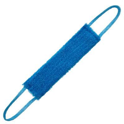 361-065 Мочалка банная с ручками кругловязанная, ПП нить, 40x11x2см, полосатая