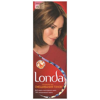 972-029 Крем-краска для волос LONDA стойкая 15 Темно-русый к/у