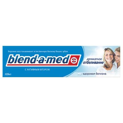 981-022 Зубная паста BLEND_A_MED Анти Кариес Здоровая Белизна Деликатное отбеливание к/у100мл