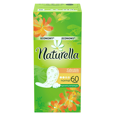 939-011 Прокладки гигиенические на каждый день NATURELLA Calendula Tenderness Normal Trio к/у 60шт