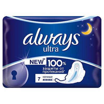 941-051 Прокладки гигиенические ALWAYS ультра найт сингл пэт 7шт