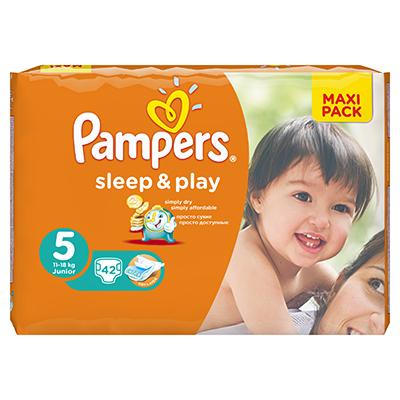 926-019 Подгузники детские PAMPERS Sleep & Play Junior (11-18 кг) Экономичная Упаковка пэт 42