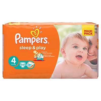 926-020 Подгузники детские PAMPERS Sleep & Play Maxi (7-14 кг) Экономичная Упаковка пэт50