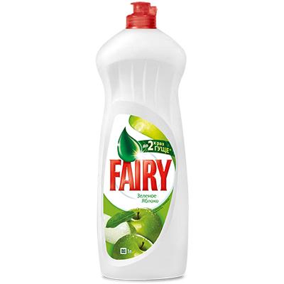 992-013 Средство для мытья посуды FAIRY Зеленое яблоко п/б 1л