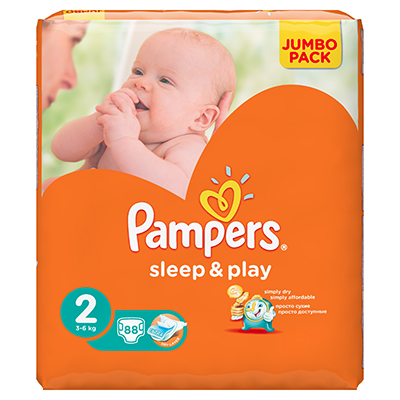 926-022 Подгузники детские PAMPERS Sleep & Play Mini (3-6 кг) Джамбо пэт 88