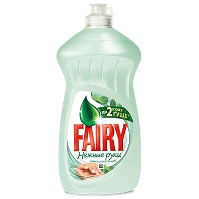 992-026 Средство для мытья посуды FAIRY Нежные руки Чайное дерево и мята п/б 450мл арт.81628064