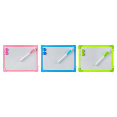 284-144 Доска для рисования с маркером, пластик, 20х15см, 3 цвета