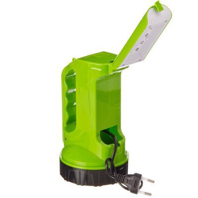 632-018 ЕРМАК Фонарь аккумуляторный, 8+8LED, пластик, 9,5x17см, пит. 220В