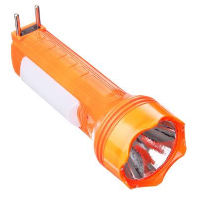 632-021 ЕРМАК Фонарь мини, 4+1LED, пластик, 6x16см, пит. 220В / солн.батарея