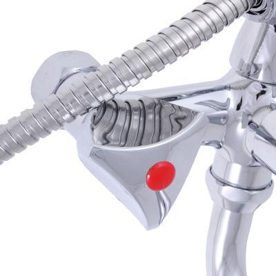 """566-233 Смеситель Quartz ECO (Н0001) для ванны, дл. излив, керам. кран-буксы 1/2"""", хром"""