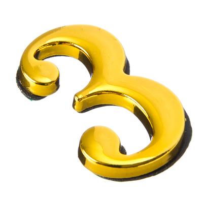 623-368 Номер дверной 3, 45x28мм, металл, цвет золото