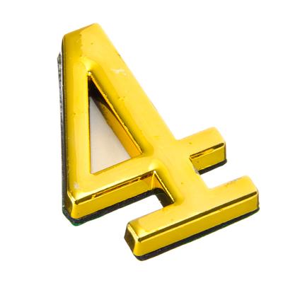 623-369 Номер дверной 4, 45x28мм, металл, цвет золото