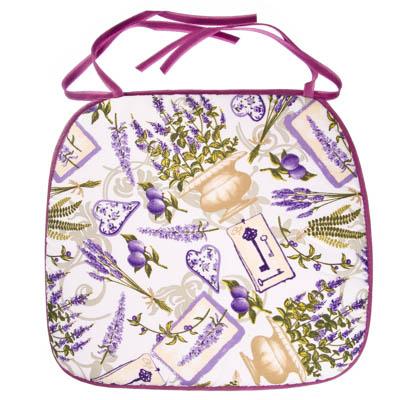432-002 VETTA Фиолет Сидушка для стула, полиэстер, 33х38см