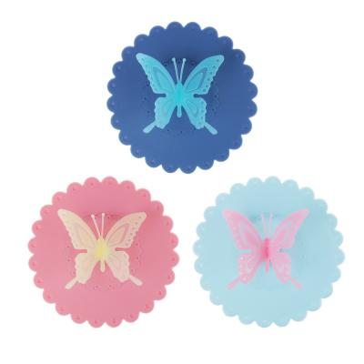 """891-290 Крышка для кружки, силикон, 10,5см, """"Бабочка"""", 3 цвета"""