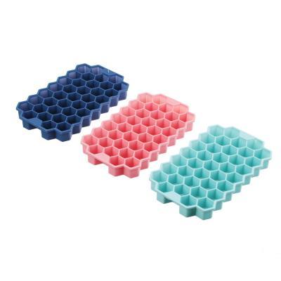 891-294 Форма силиконовая для льда СОТЫ, 37 ячеек, 20х12 см