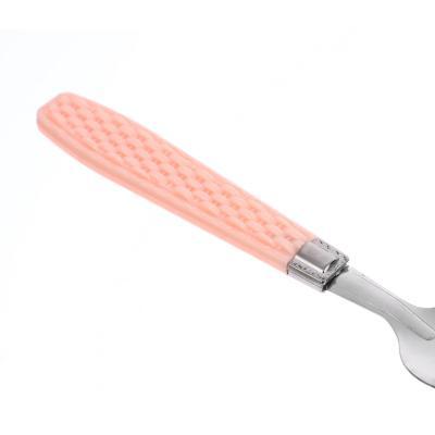 859-046 Набор столовых приборов для детей 2 пр. (ложка 16см + вилка 17см), металл, пластик, 4 цвета