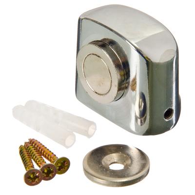 602-048 Упор дверной 09 магнитный, 31x37мм, хром, цинк