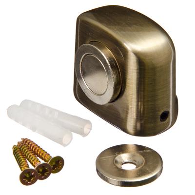 602-049 Упор дверной, магнитный, 31x37мм, бронза, цинк