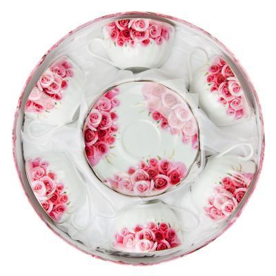 821-421 Розы Набор чайный 12 пр. 270мл, тнк.фрф, подар.уп. AY-1510