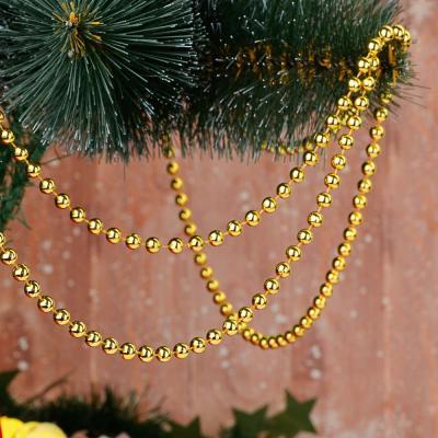 378-187 Бусы декоративные СНОУ БУМ 270 см, средние d1 см, пластик, цвет VA3